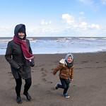 Karen & Jack on Kilnsea Beach