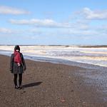 Karen at Kilnsea Beach
