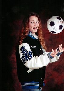 She is a soccer player