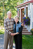 Nan Buxton and Fred Buxton sit for a portrait in front of their Crested Butte home on Friday, Sept., 3, 2010. (Photo/Nathan Bilow)