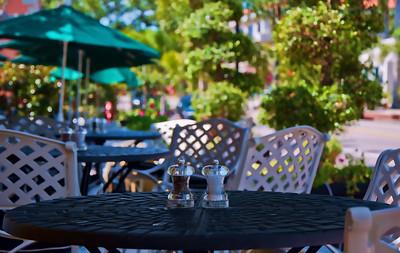 Outside dining along 3rd St.