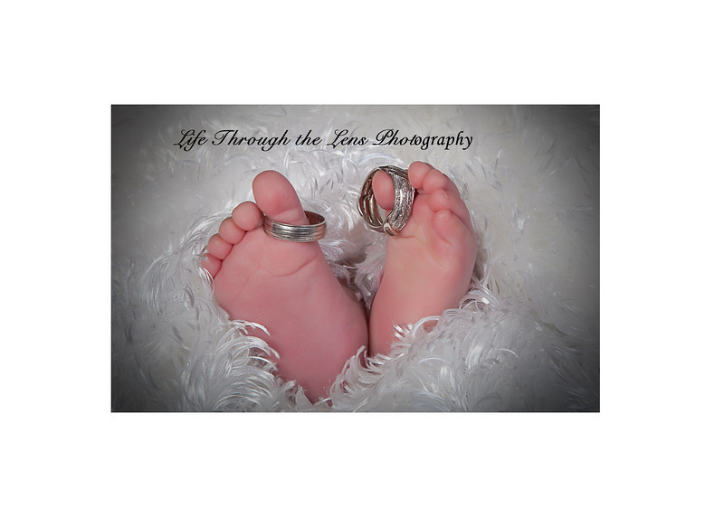 baby feet with rings