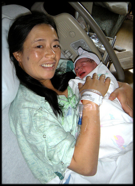 First Photo of Issey with MaMa