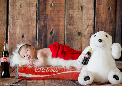 Coke Cola Newborn Photo