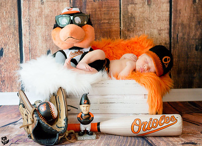 Baltimore Orioles Newborn Photo