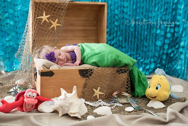 Little Mermaid Newborn Photo