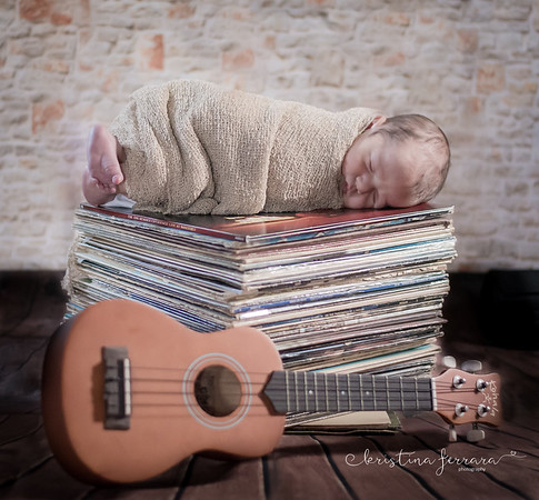 Music Newborn Photo