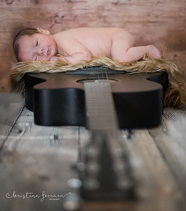 Guitar Newborn Photo