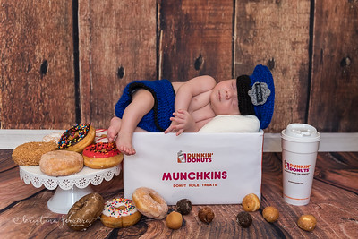 Dunkin Donuts Newborn Photo