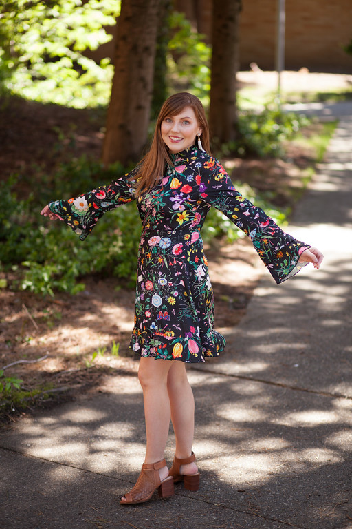 floral dress with ruffles - top dress trends for spring and summer 2017