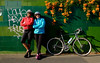 two women with bicycle