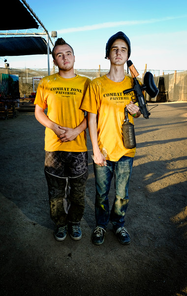 two paintball referees