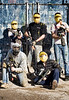 paintball players posing