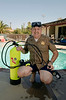 highway patrol officer with scuba tank