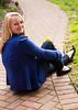 6378 Sitting on Brick Sidewalk Wallets