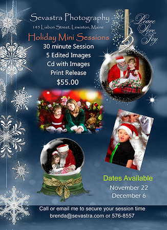 Christmas Mini Specials!! Hurry to get your spot!!! Indoor studio. $25 deposit to hold your date! This can be paid for through Paypal. Send payment to brendagiasson@gmail.com or I can invoice you. Message me to get your time spot!! Dates are limited - Please share with Family