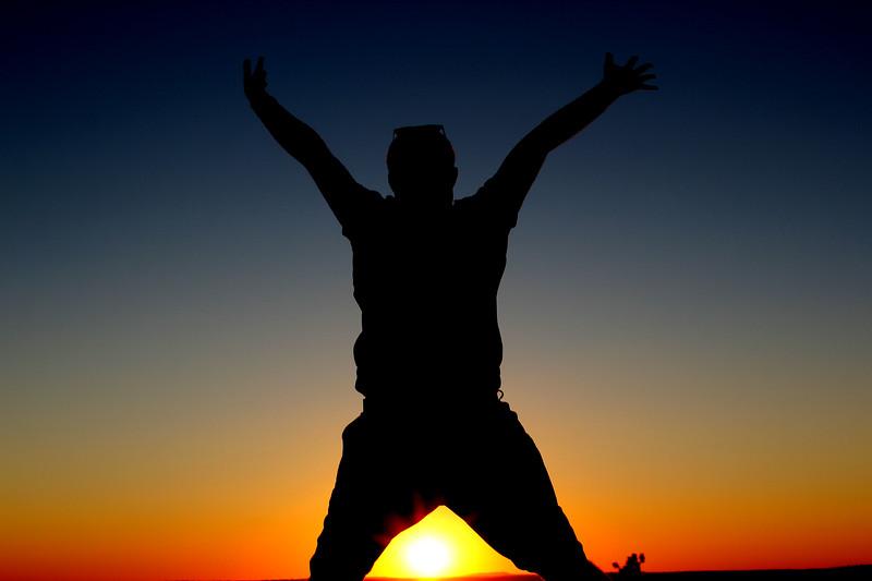 Jump - Sunset Silhouette - September 2013