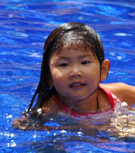 cutest little Japanese girl in pool at the Hilton Hawaiian Village where we stayed in Sept. 07