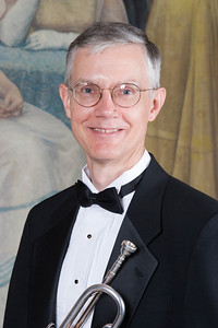Tom Shields, trumpet -- Homewood Brass Quintet, shown at Shriver Hall on the Homewood campus, The Johns Hopkins University