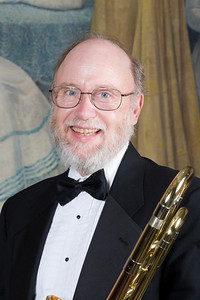 Charles Phillips, trombone -- Homewood Brass Quintet, shown at Shriver Hall on the Homewood campus, The Johns Hopkins University