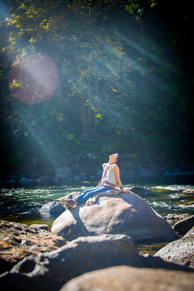 Basking in the rays, Snoqualmie River, WA