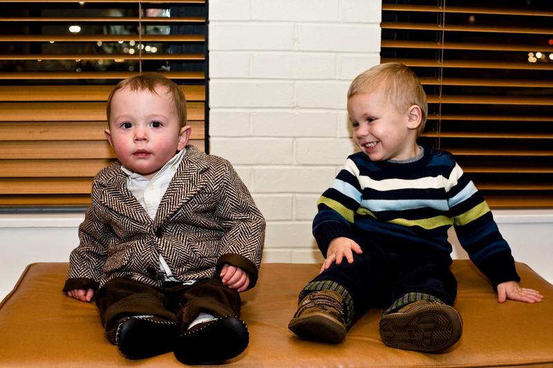 Big Owen and Little Owen at Venera's wedding. - Dec 2008