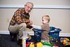 Owen and Great-grandpa. - Dec 2008