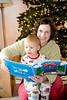 Reading the train book. - Owen and Mom - Christmas - Dec 2008