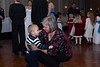 Owen and Grams at the wedding reception. - Dec 2008