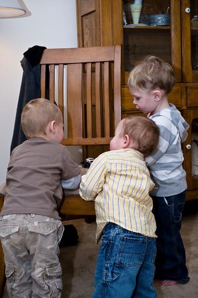 The three great-grandkids. - Owen, Owen and Silas - Dec 2008