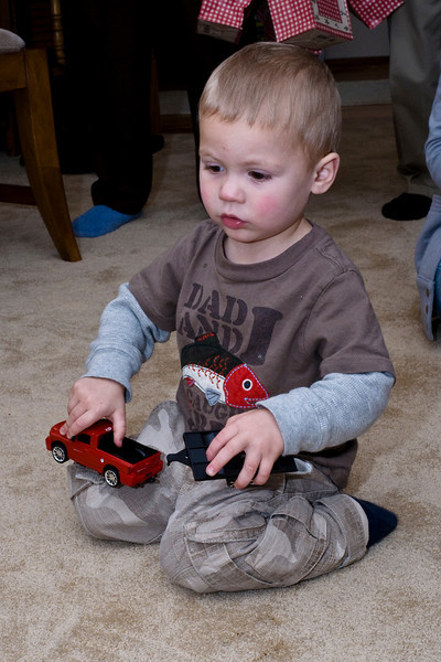 This is my truck from Great-grandma. - Owen - Dec 2008