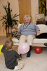 Playing balloon games with Granny.  Ashland, OR.  December 2009.