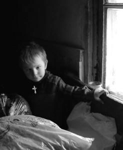 Boy in Ukraine village. Copyright © 2003 Alex Emes