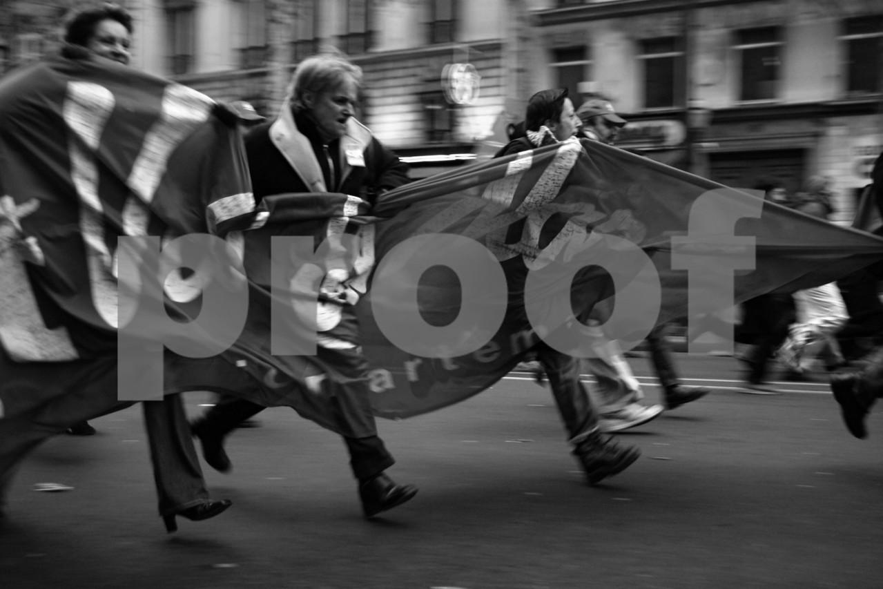 Manifestation d'enseignants contre le CPE (première phase) à Paris, le 2 février 2006.