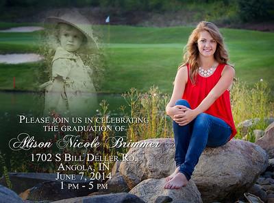 Alison Brimmer 2014 Invitation Front