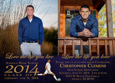 Chris Clemens 2014 Invitation Front 5 x 7