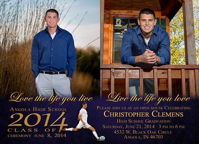 Chris Clemens 2014 Invitation Front 5 x 7