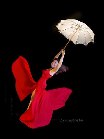 red dress umbrella 5450 patricia fly 5