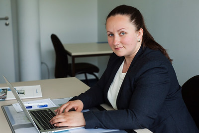 A business portrait for Puchkova Irina at FernUniversität. Hagen, 2015.