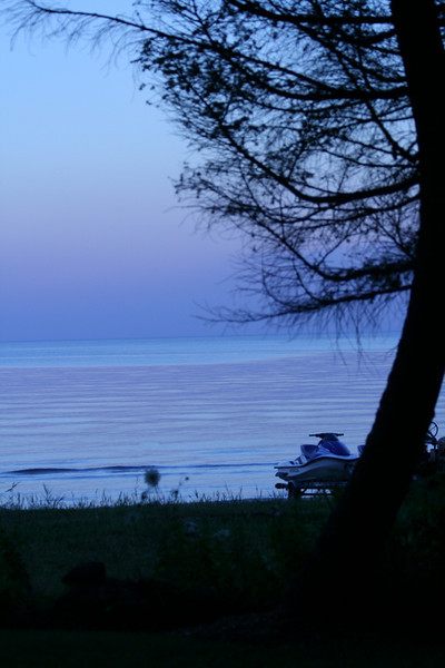 View from the beachouse at sunset