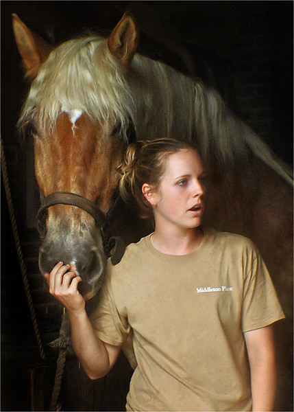 Middleton Horse and trainer.