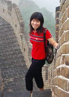 Emily on the Great Wall, Beijing