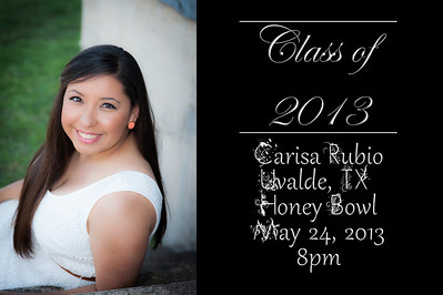 Just a sample of a Graduation announcement I did..