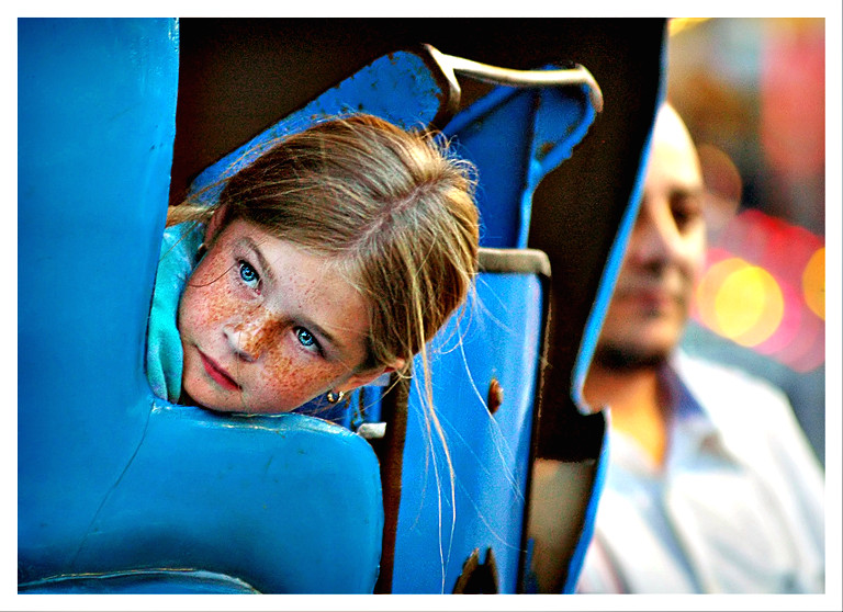 """""""Quiet Anticipation"""" - Girl on a Carnival Ride"""