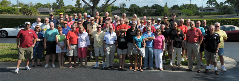 panoramic group photo taken at Collier collection, Naples FL