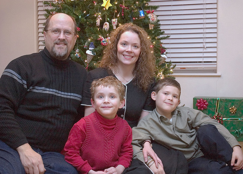 Christmas 2006 family portrait