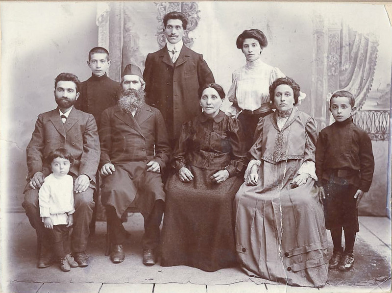 My Great Grandparents and some of my Great Uncles and Aunt. Russia Circa 1906 by unknown photographer.