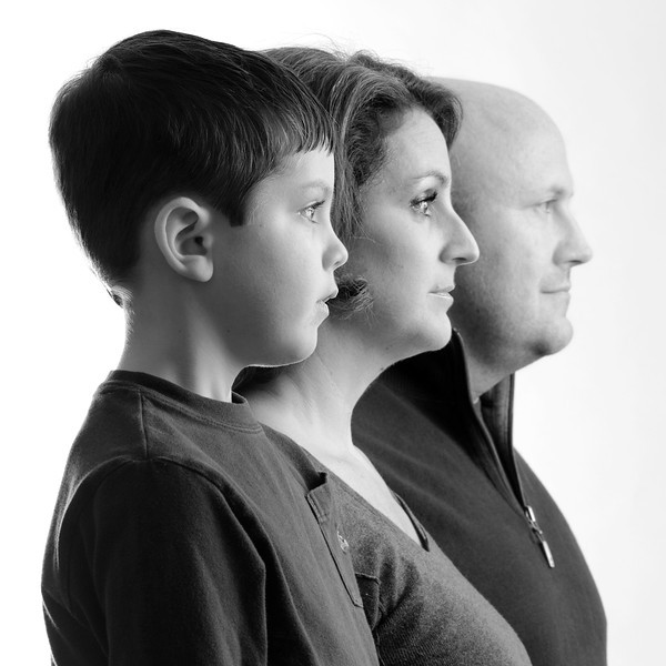 Family high key portrait