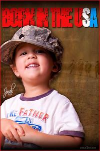 Three composites: Jonah, Army Creed, Iraq desert photo