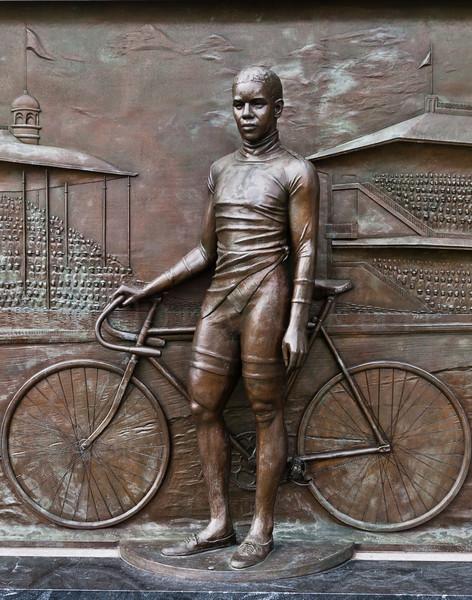Major Taylor and his bike.